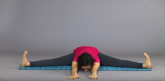 abs workout for women:  Konasana (Angle pose)