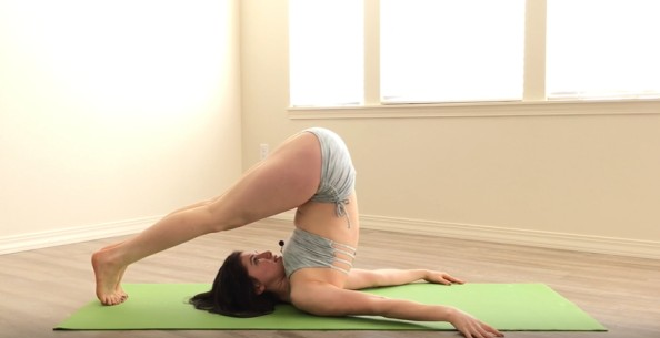 abs workout for women:  Halasana (Plough Pose)