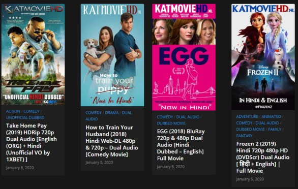 KatmovieHD 2020 - Latest 300MB Hollywood, Bollywood Movies
