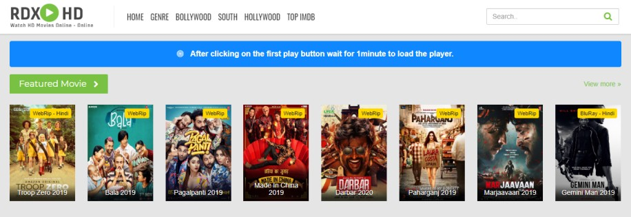 2020 RdxHD Movies - Free Download 300mb Hollywood, Bollywood Movies