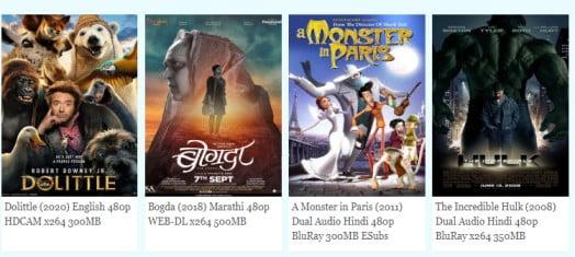 SSRMovies 2020 -  Latest 300MB Hollywood, Bollywood Movies