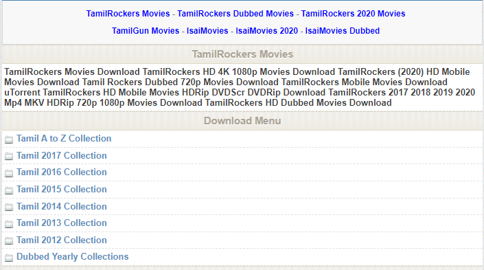TamilRockers 2020 - Latest 300mb Mp4 HD Hollywood, Bollywood Movies
